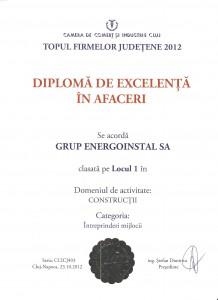 Diploma Top CCI Cluj 2012
