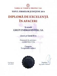 Diploma Top CCI Cluj 2014